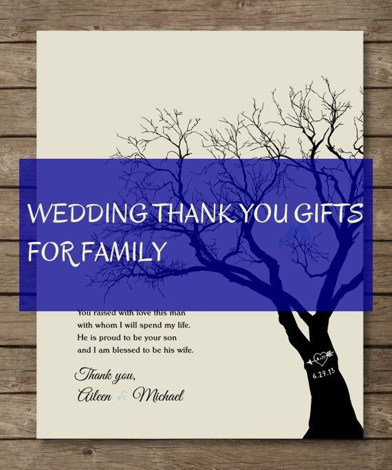 wedding thank you gifts for family
