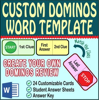 Create your own custom Domino Review activity featuring 24 domino