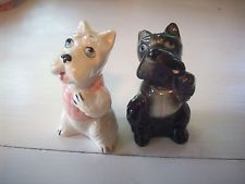 Schnauzer Dogs  Salt and Pepper Shakers