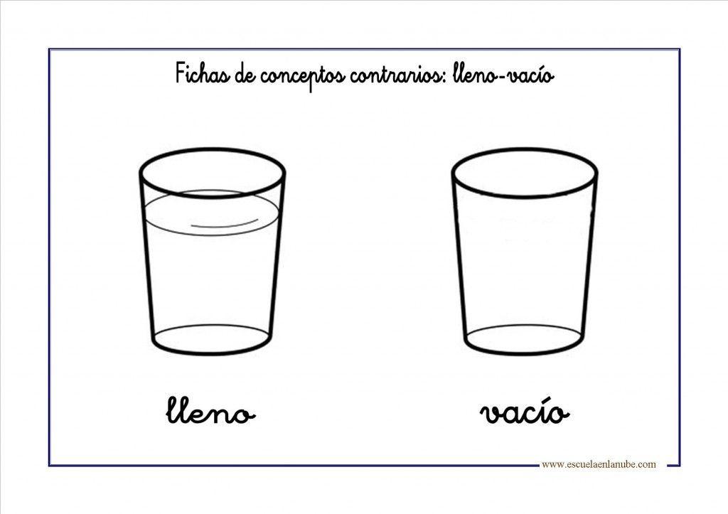Conceptos contrarios: Lleno-Vacío | Montessori | Pinterest ...