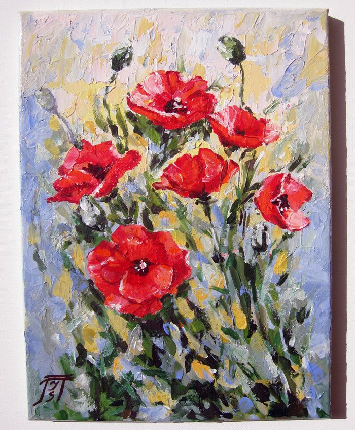 Palette knife acrylic painting on canvas my art for Palette knife painting acrylic