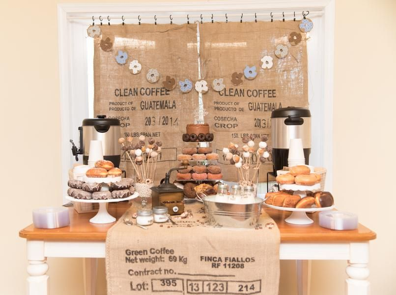 Coffee Birthday Party Coffee Party Decorations Coffee Lovers Party Decor Coffee and Donut Party.Donut Party Decoration Coffee Confetti