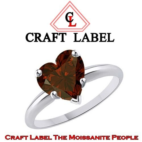 "2.75 Ct Heart Shape Red Garnet 14K Gold Solitaire Engagement Ring ""Mother\'s Day Gift"". Starting at $1"