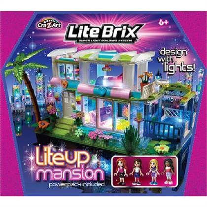 Cra-Z-Art Lite Brix Lite Up Mansion   That\'s so cute   Pinterest