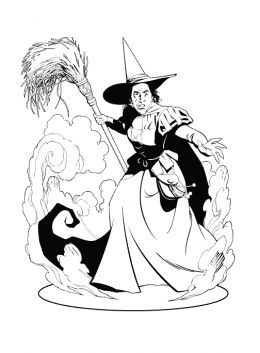 Wizard Of Oz Kids Colouring Pictures To Print And Colour Online Wizard Of Oz Color Witch Coloring Pages Wizard Of Oz