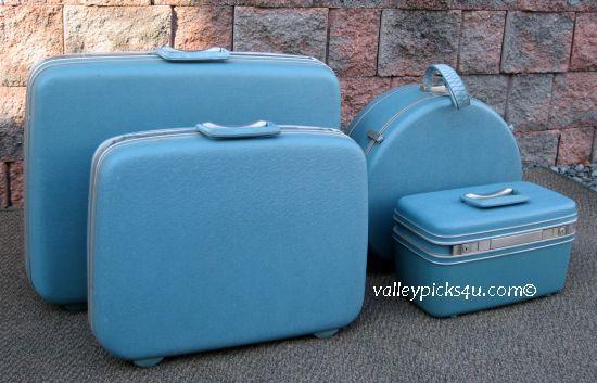 Set 4 Vintage Retro 1950s Baby Blue Silhouette by picks4u on Etsy, $325.00
