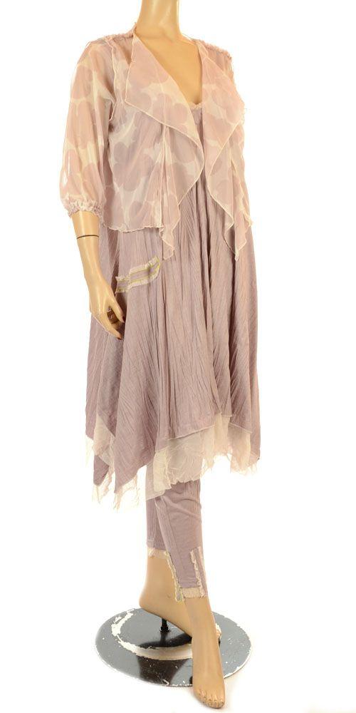oliver jung summer collection dusky pink crushed fabric legging oliver jung lagenlook womens. Black Bedroom Furniture Sets. Home Design Ideas
