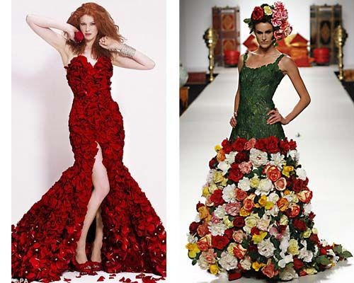 Платья из живых цветов массовка в лос анджелесе