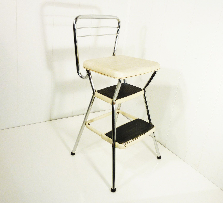 Marvelous Retro Cosco 50S Vintage Step Stool Kitchen Stool Chair Beatyapartments Chair Design Images Beatyapartmentscom