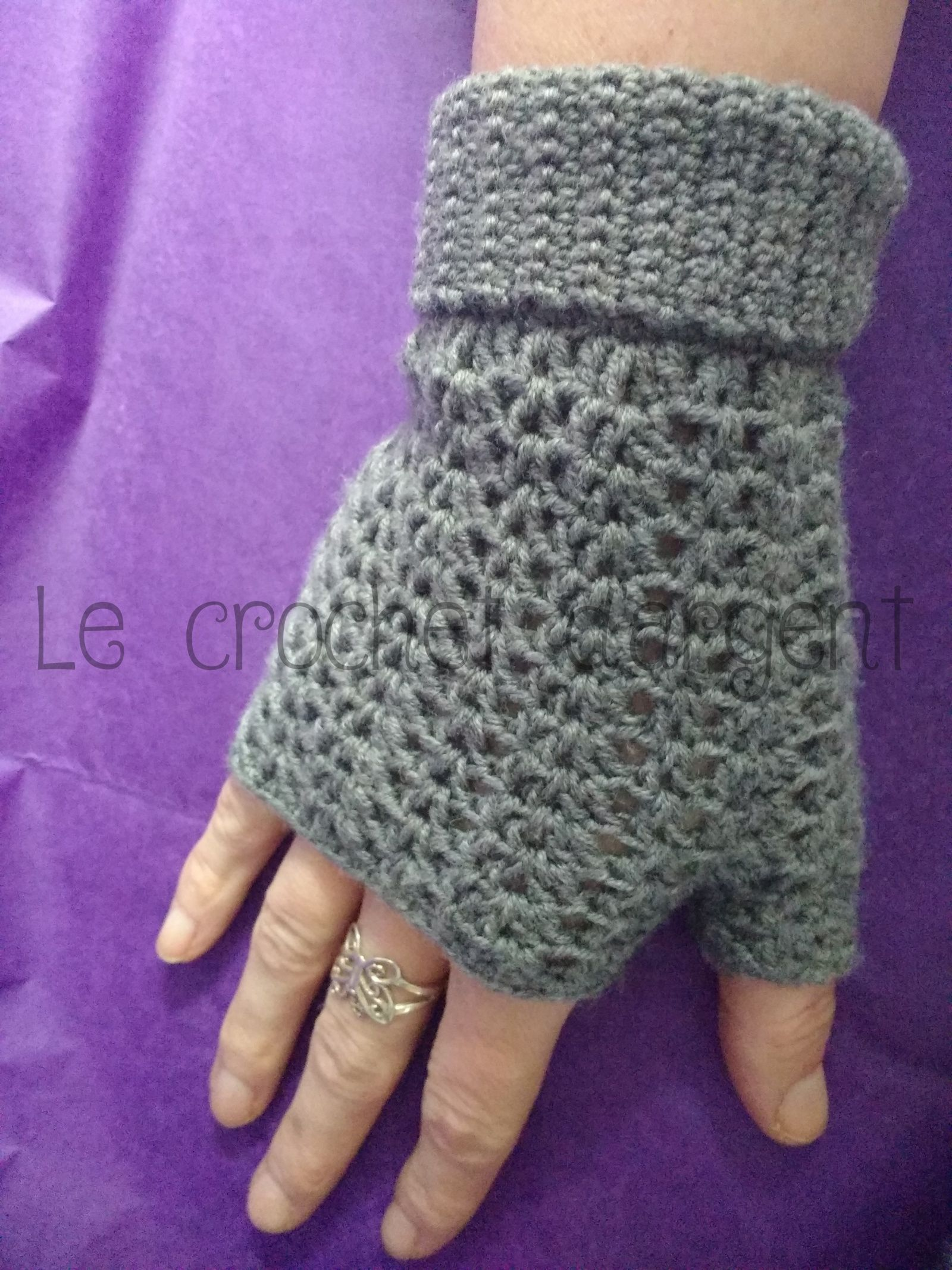 Mitaines Dentelle Au Crochet Tricot Et Crochet Mitaines