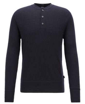 6aabae94d BOSS Men's Slim Fit Ribbed Sweater in 2019 | Products | Ribbed ...