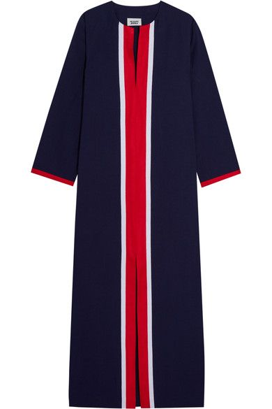 SLEEPY JONES Germaine grosgrain-trimmed cotton kaftan. #sleepyjones #cloth #loungewear