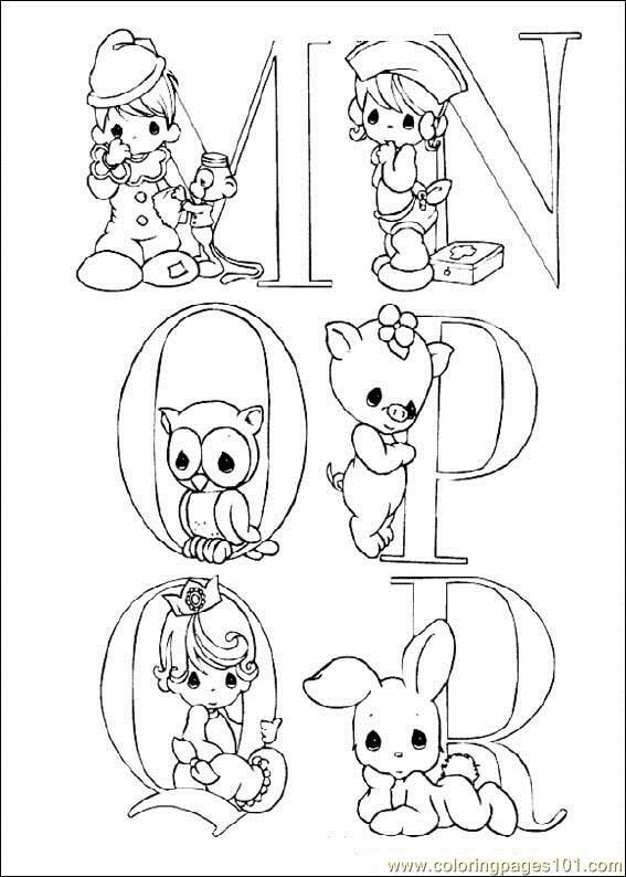 Coloring pages precious moments cartoons precious moments free