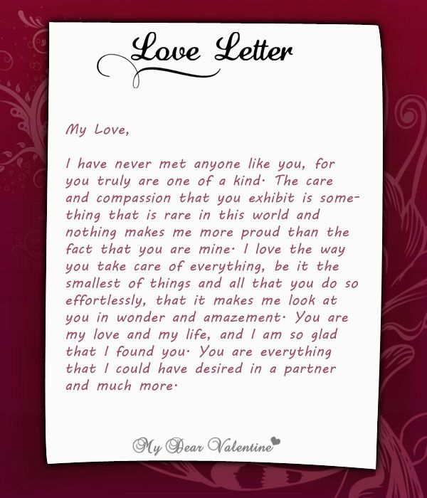 I have never met anyone like you, for you truly are one of ... Dear Future Boyfriend Letters