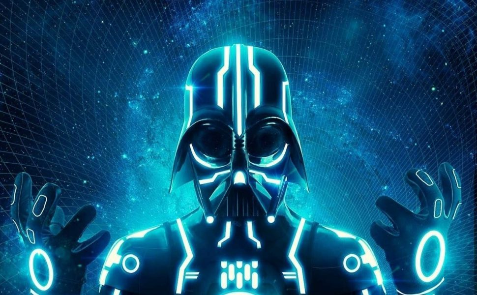 The Galaxy S4 Wallpaper I Just Pinned: Tron Vader HD Wallpaper