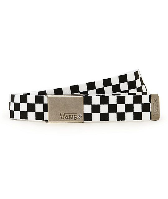 a676d9451ac510 Vans Deppster Black   White Checkered Web Belt in 2019