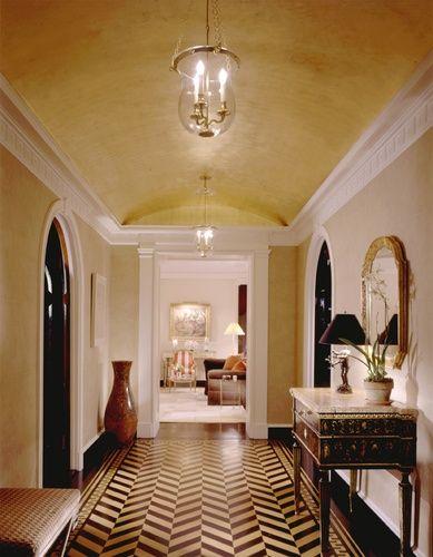 Herringbone Floor Upper East Side Apartment Traditional Architect British Colonial