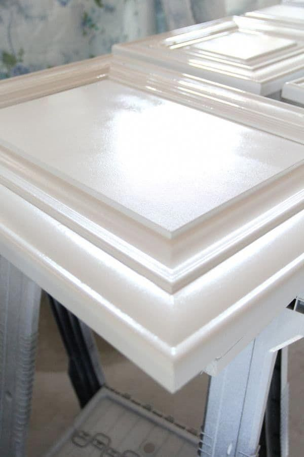 How to Spray and Seal White Painted Cabinets | Paint ...