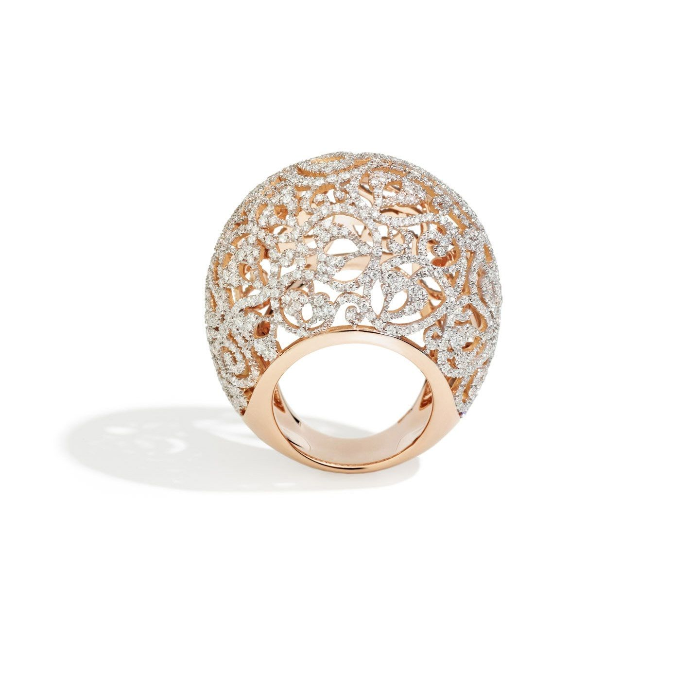 Pomellato's 2014 collection is here! We love this Arabesque Ring in rose gold and diamonds! More eye candy here: http://balharbourshops.com/must-haves/fashion-jewelry