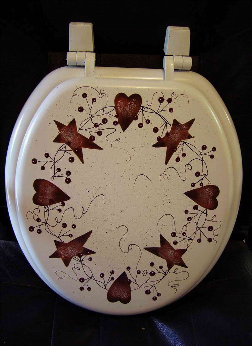 Primitive Rusty Tin Round Or Elongated Toilet Seat With Images