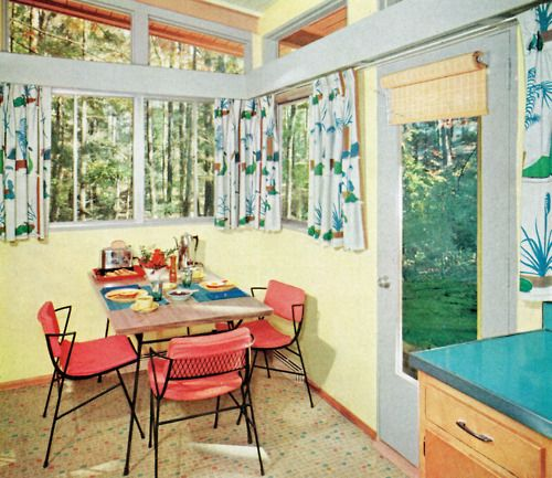"""1950s """"sun Porch"""", Looks More Like A Breakfast Nook To Me"""