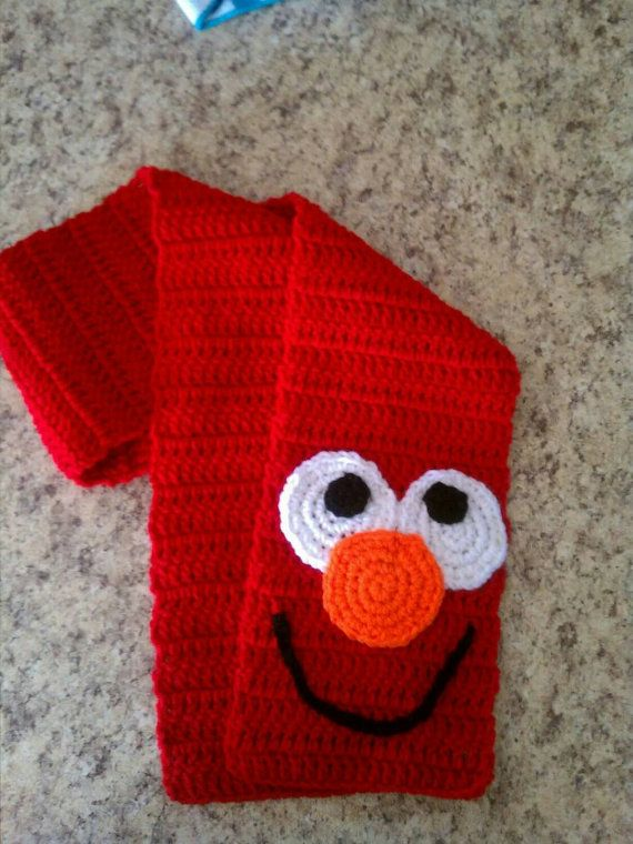 Elmo Crochet Scarf Knitting Crochet And Crafts Pinterest