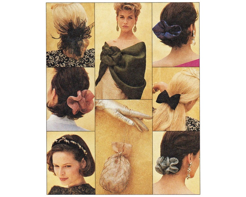 Sewing Pattern for Stole Beaded Purse  Hair Bows For Barrettes McCalls 6321 UNCUTbarrettes