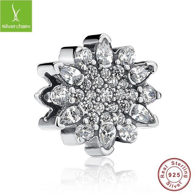 ce3ff099294b 100% 925 de hielo de plata cristal del grano del encanto con Clear CZ slim  Fit Original Pandora pulsera collar de auténtica joyería de lujo
