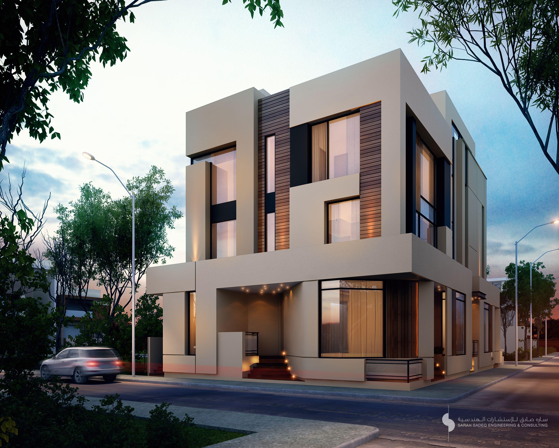 375 m apartments kuwait sarah sadeq architects for Modern house design kuwait