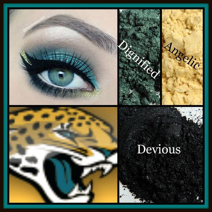 Carolina Panthers inspired eye! Younique pigments