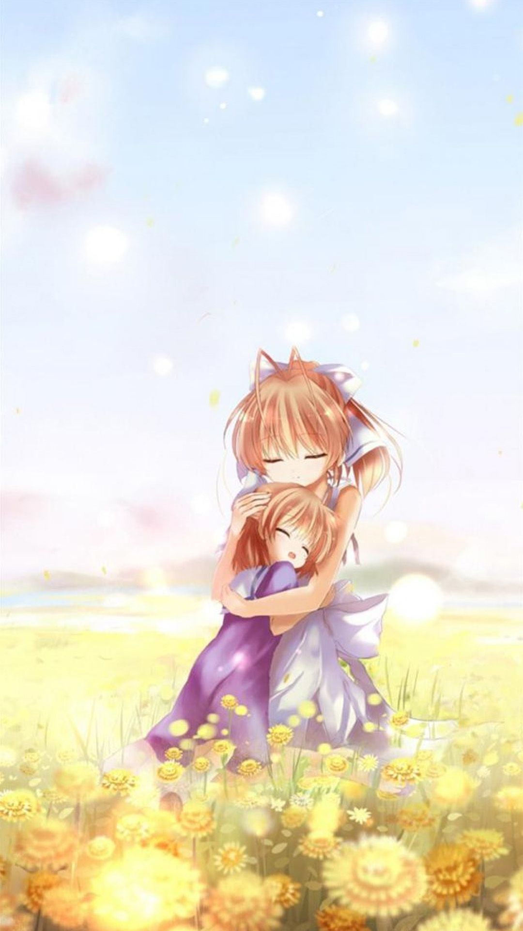 Pure Cute Cartoon Scene Iphone 6 Plus Wallpaper Clannad