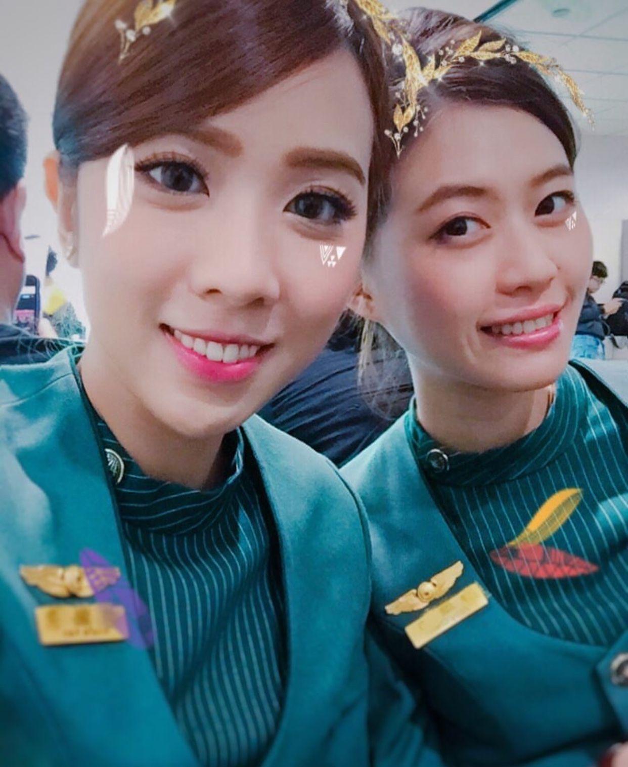 【Taiwan】EVA Air cabin crew (old uniform) / エバー航空 客室乗務員 旧制服