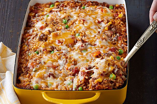 Mexican Beef Rice Casserole Recipe Recipes Mexican Beef Mexican Food Recipes