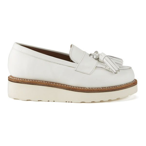 c935fac57fe Grenson Women s Clara Leather Platform Tassel Loafers - White ( 290) ❤  liked on Polyvore featuring shoes