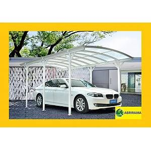 Carport aluminium 5,76x3m blanc pour grand véhicule