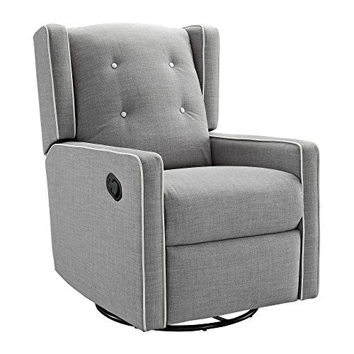 Stupendous Baby Relax Mikayla Swivel Gliding Recliner Gray Linen Ba Andrewgaddart Wooden Chair Designs For Living Room Andrewgaddartcom