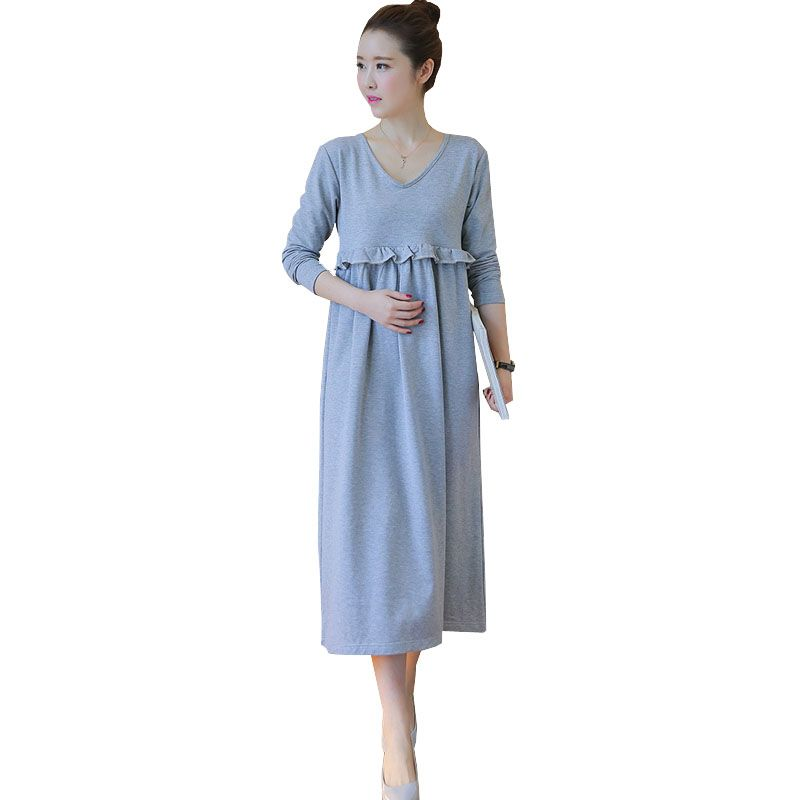 ea2d8986d8e Long Sleeve Dresses For Pregnant Women Nursing Maternity Dress Feeding  Clothes Breastfeeding Pregnancy Clothing Autumn Winter Oh just take a look  at this!