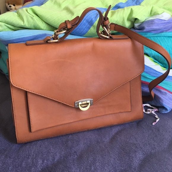 Asos 100% real leather massager satchel bag Only used once. 100% real  leather 9798b2f1685fe