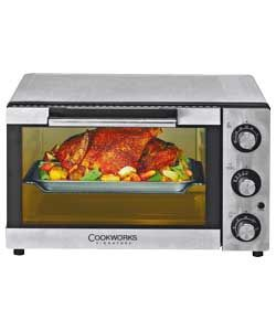 argos cookworks kws1525r f2u mini oven stainless steel. Black Bedroom Furniture Sets. Home Design Ideas