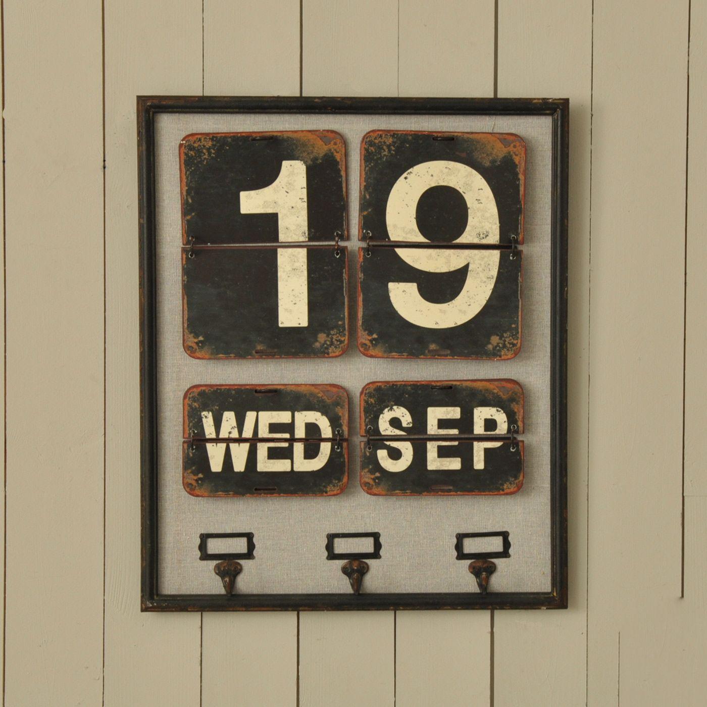 Wooden Wall Calendar