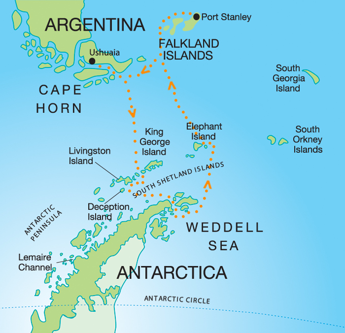 seymour island Falkland islands etc map ZeTraveloguecom