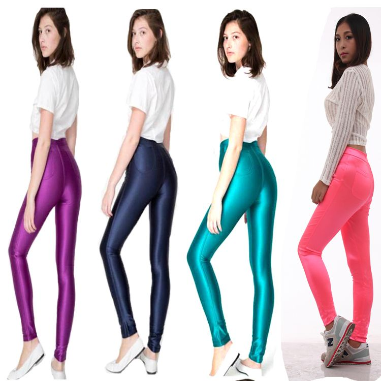2013 Brand New Women High Waist Neon Candy Color disco Pencil ...