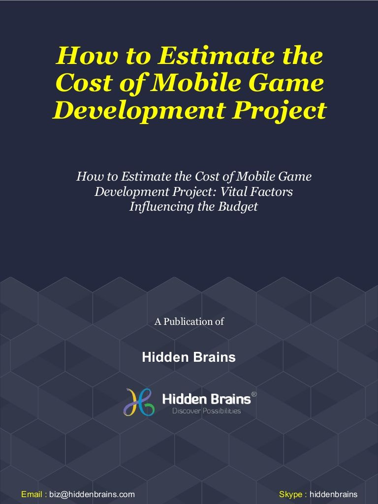 How to Estimate the Cost of Mobile Game Development