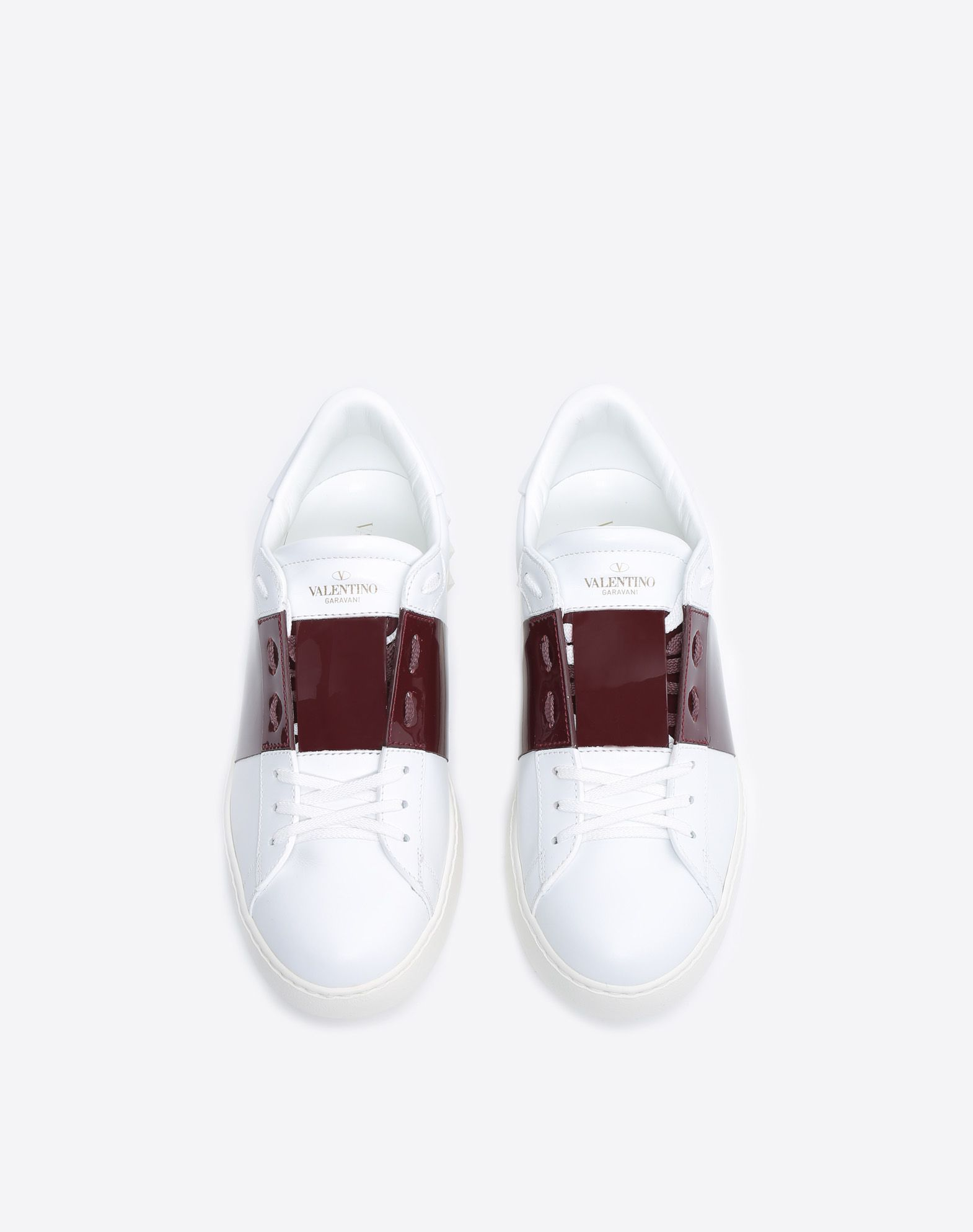Patent Leather Open Sneaker for Man