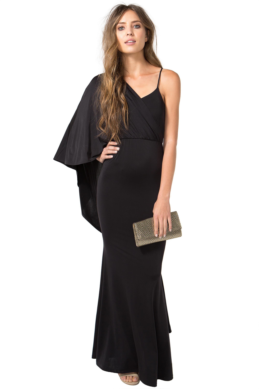 Womenus evening dresses drape cape gown augaci dresses