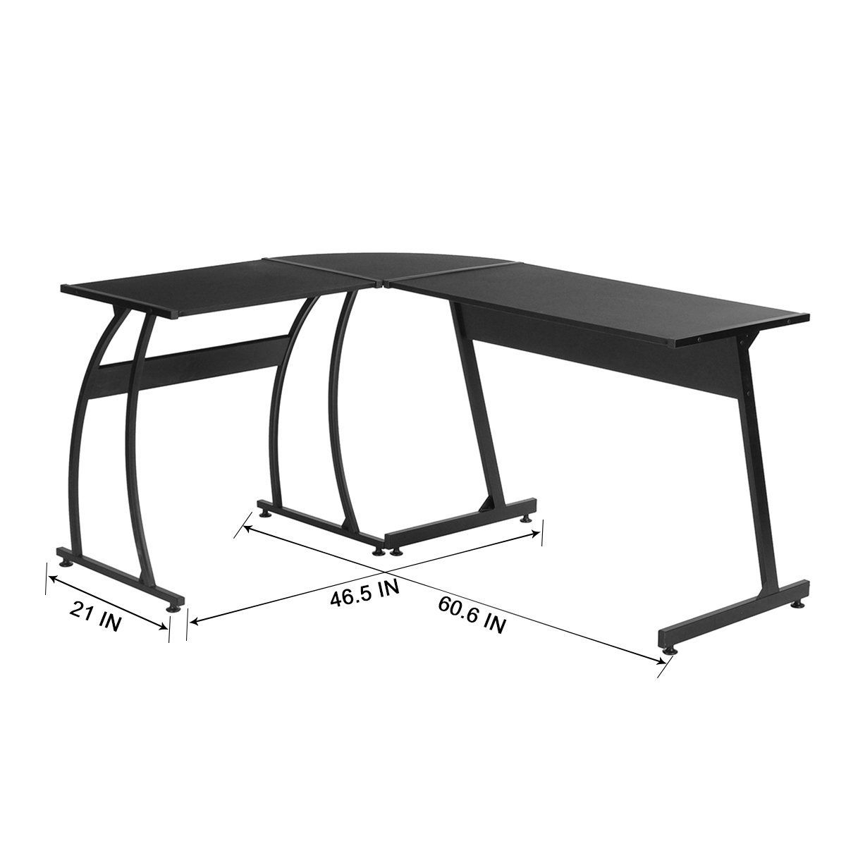 Office Corner Desk Coavas L-Shaped Office Wood Desk Large Corner PC ...