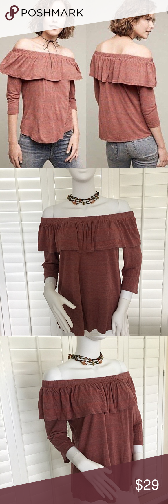 f77a14f84073e Dolan Left Coast Charla Off Shoulder Top Size Med From Anthropologie ...