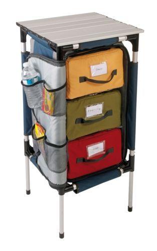Kampa Quartermaster 3 Collapsible Camping Kitchen Cupboard Organiser Ebay