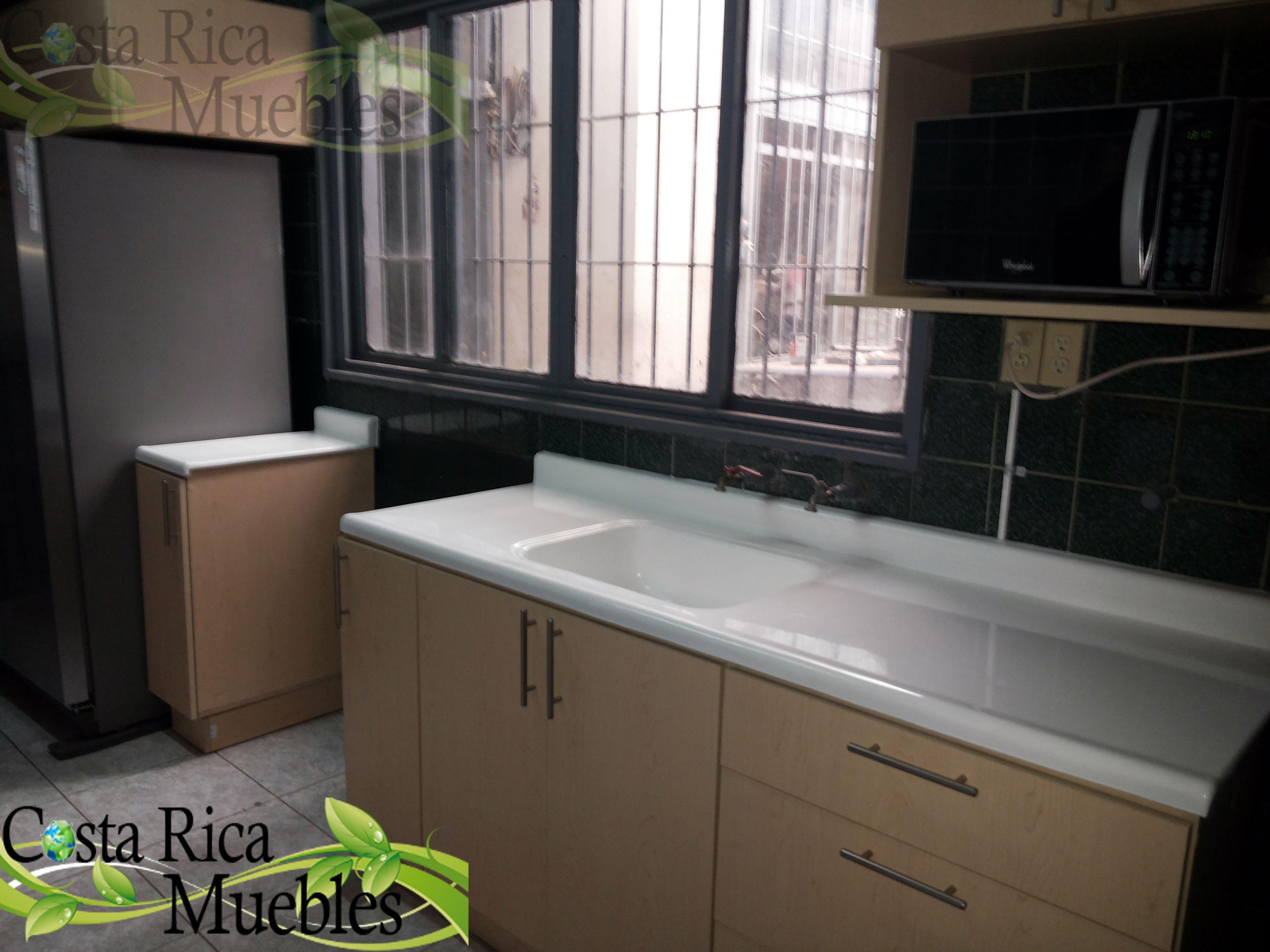 Mueble instalado en san jos cliente privado detalle for Muebles de cocina costa rica