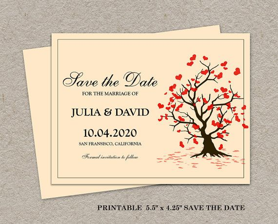 Printable Fall Save The Date Postcard By Idesignstationery